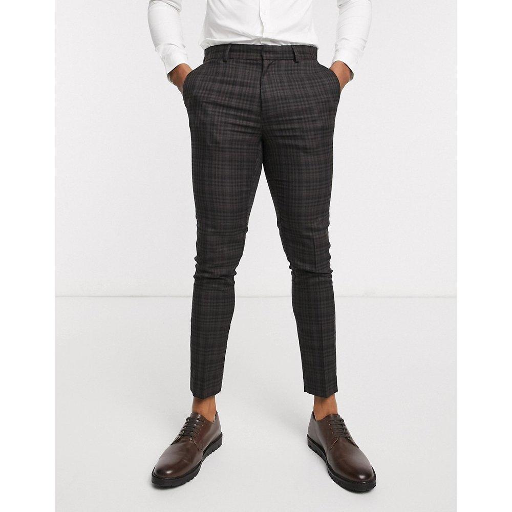 Pantalon de costume à carreaux couleur gingembre - foncé - New Look - Modalova