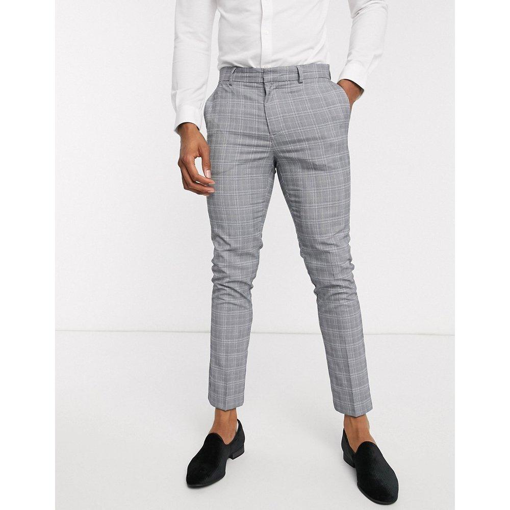 Pantalon de costume à carreaux - clair - New Look - Modalova