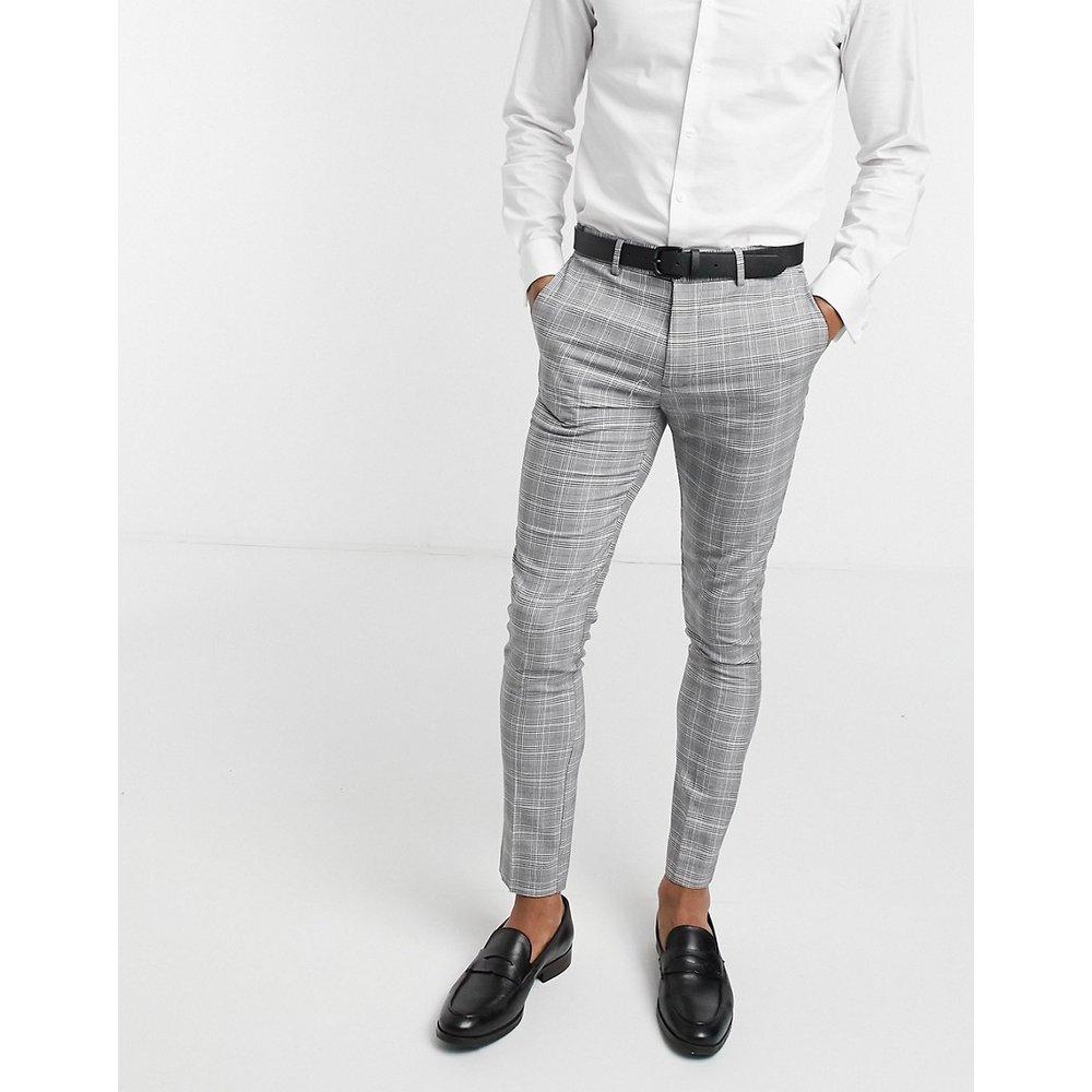 Pantalon de costume ajusté à carreaux - New Look - Modalova