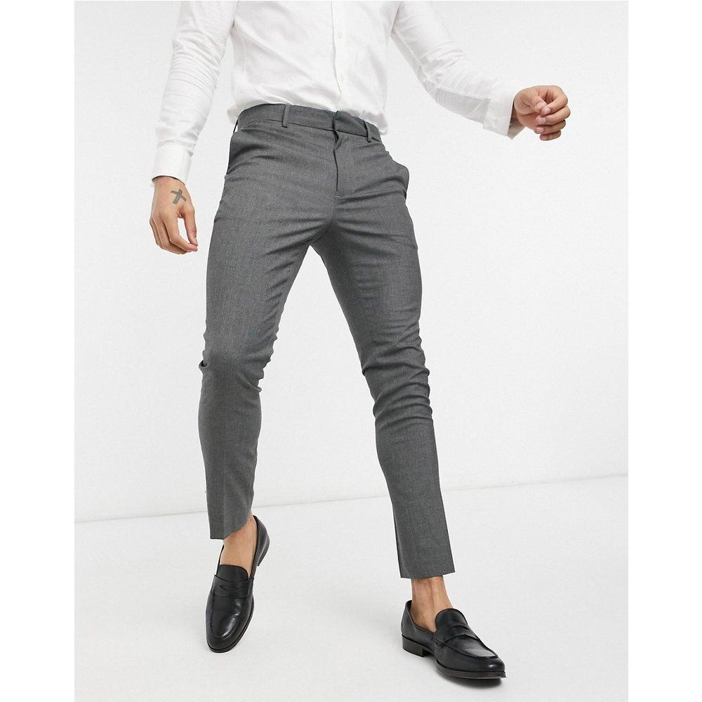 Pantalon de costume ajusté - foncé - New Look - Modalova
