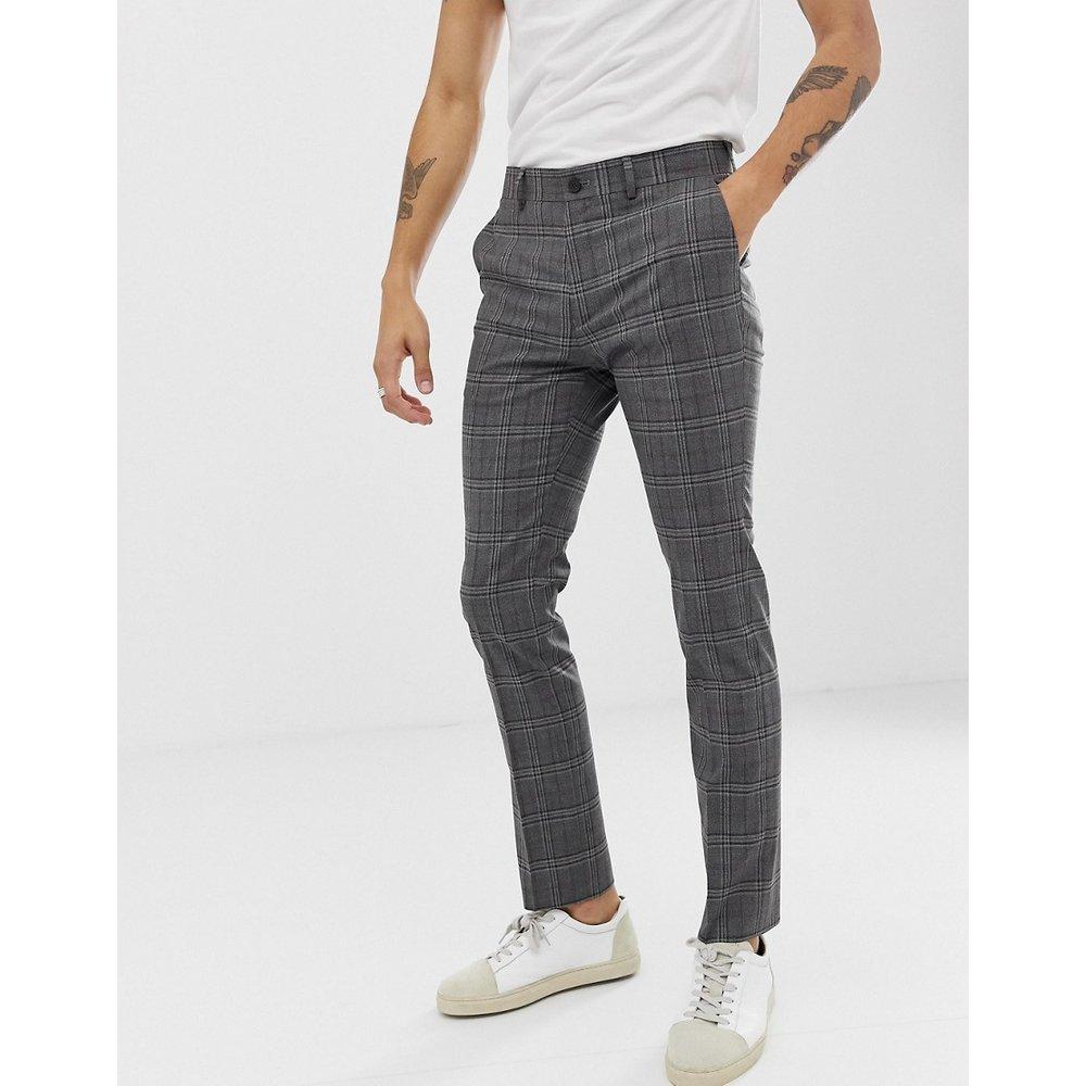 Pantalon de costume slim à carreaux - New Look - Modalova