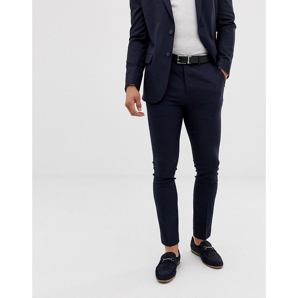Pantalon de costume slim - Bleu marine - New Look - Modalova