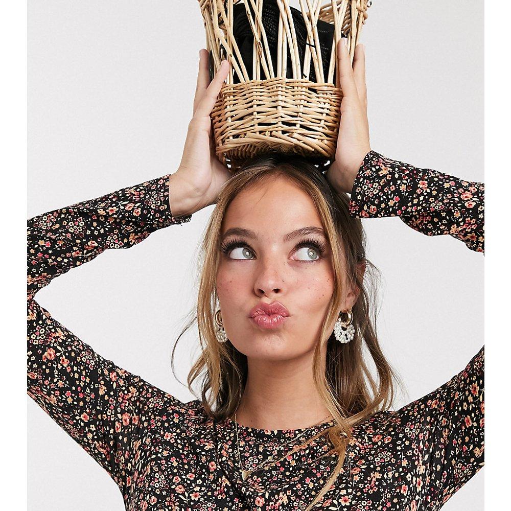 Robe mi-longue à fleurs - New Look Petite - Modalova