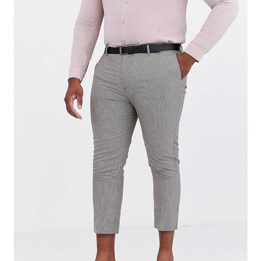 Plus - Pantalon élégant coupe ajusté à petit motif pied-de-poule - New Look - Modalova