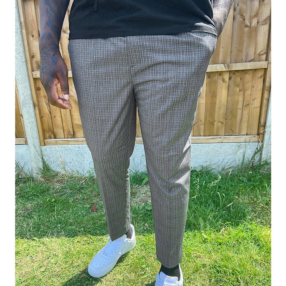 Plus - Pantalon slim à carreaux - New Look - Modalova