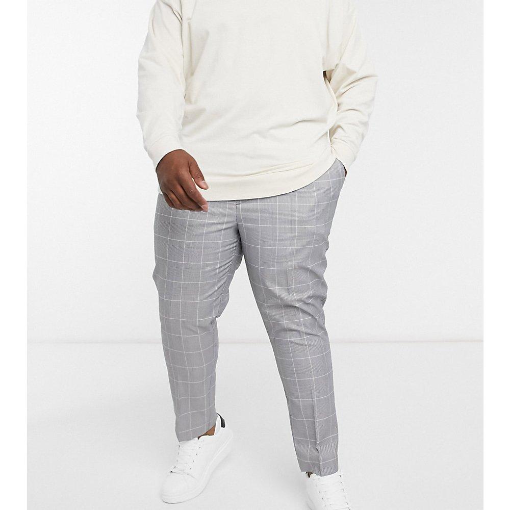 PLUS - Pantalon slim à enfiler à carreaux - New Look - Modalova