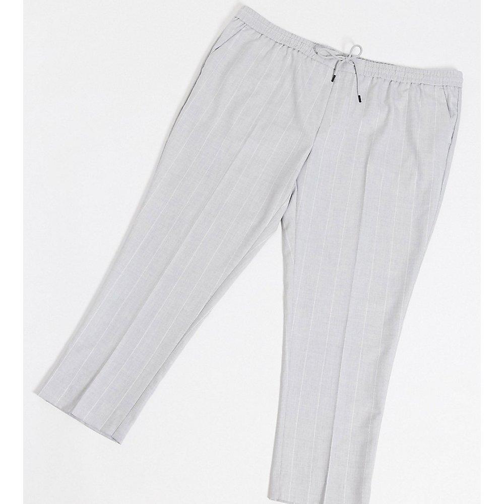 PLUS - Pantalon slim à rayures fini craquelé - New Look - Modalova