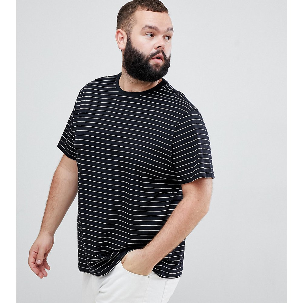 Plus - T-shirt oversize à rayures - New Look - Modalova