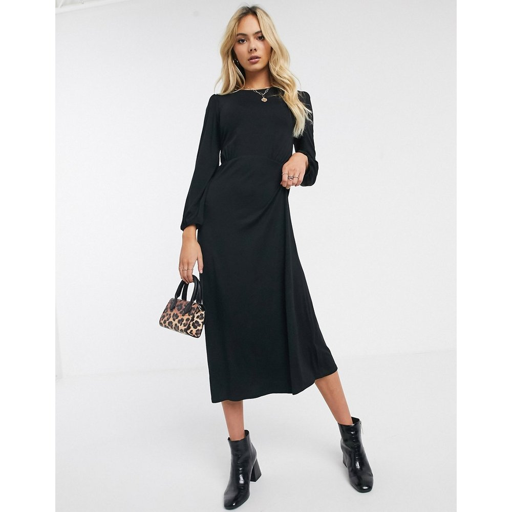 Robe mi-longue en jersey - New Look - Modalova