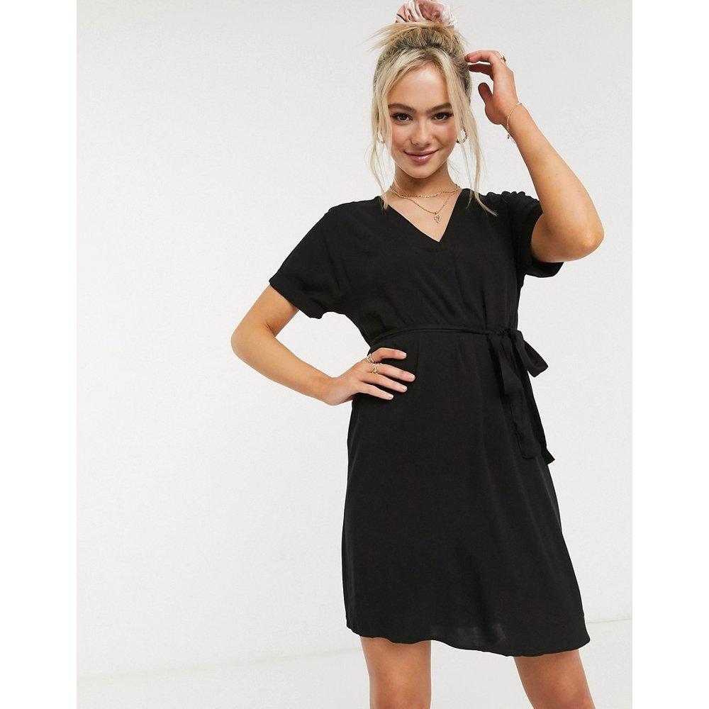 Robe tunique col V à ceinture - New Look - Modalova