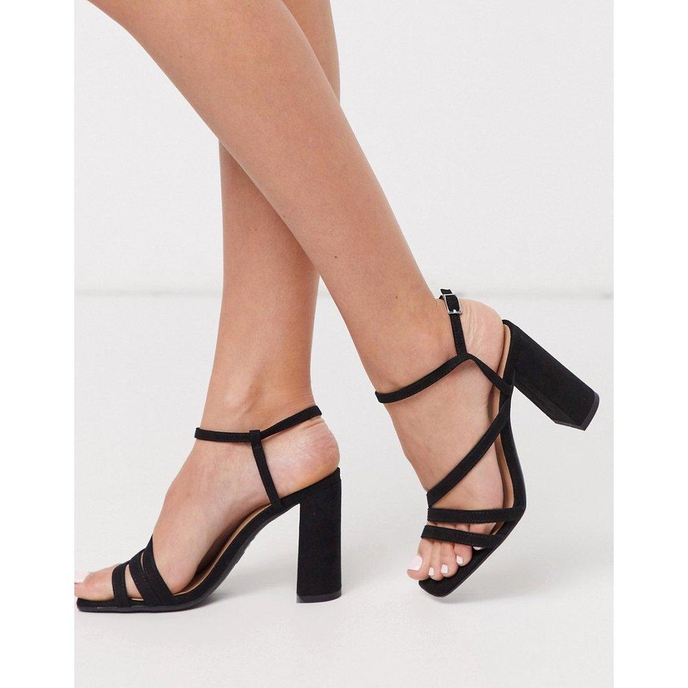 Sandales à bouts carrés avec brides multiples et talons carrés - New Look - Modalova