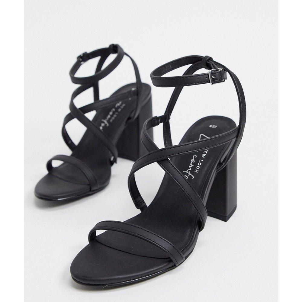 Sandales à lanières et talons hauts évasés - New Look - Modalova