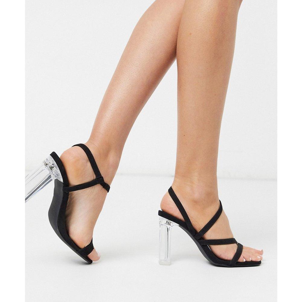 Sandales à talons carrés transparents et brides - New Look - Modalova