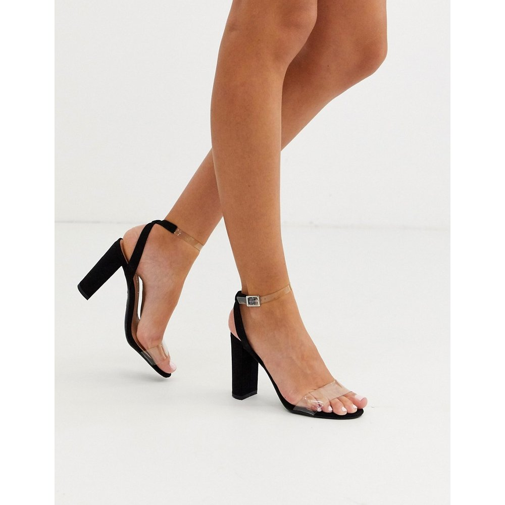 Sandales à talons et brides transparentes - New Look - Modalova