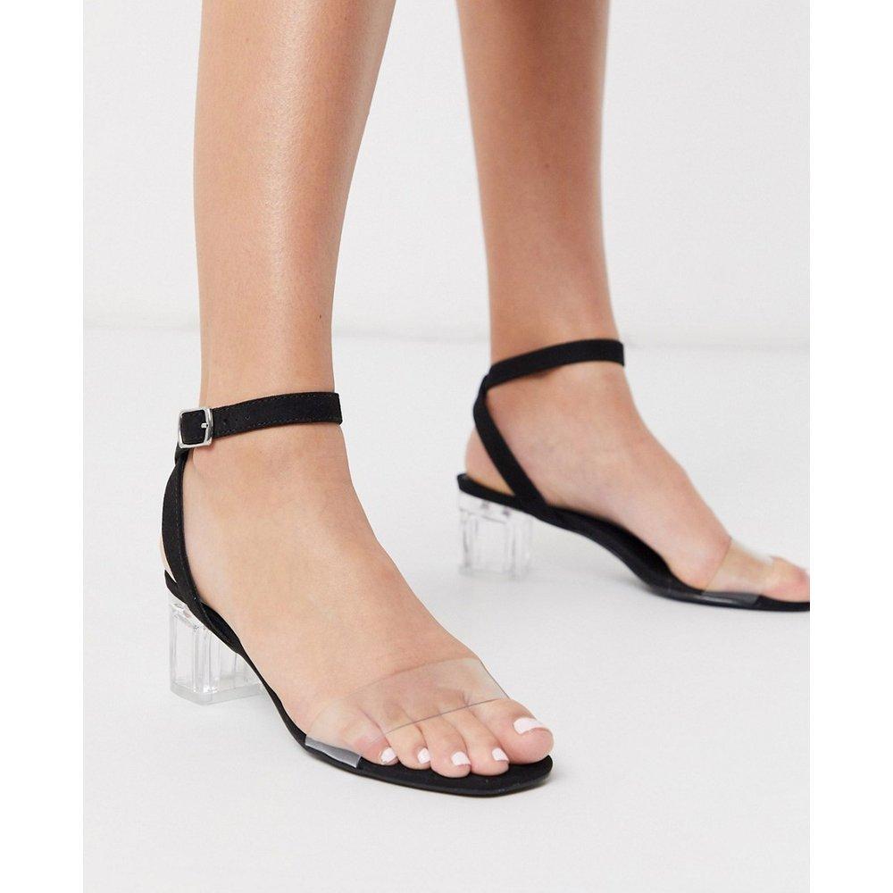 Sandales basses à talons carrés transparents - New Look - Modalova