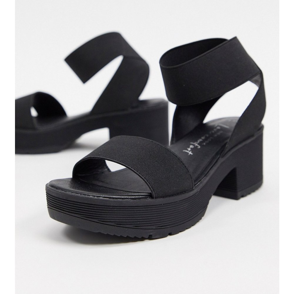 Sandales chunky à talons et brides élastiques - New Look - Modalova
