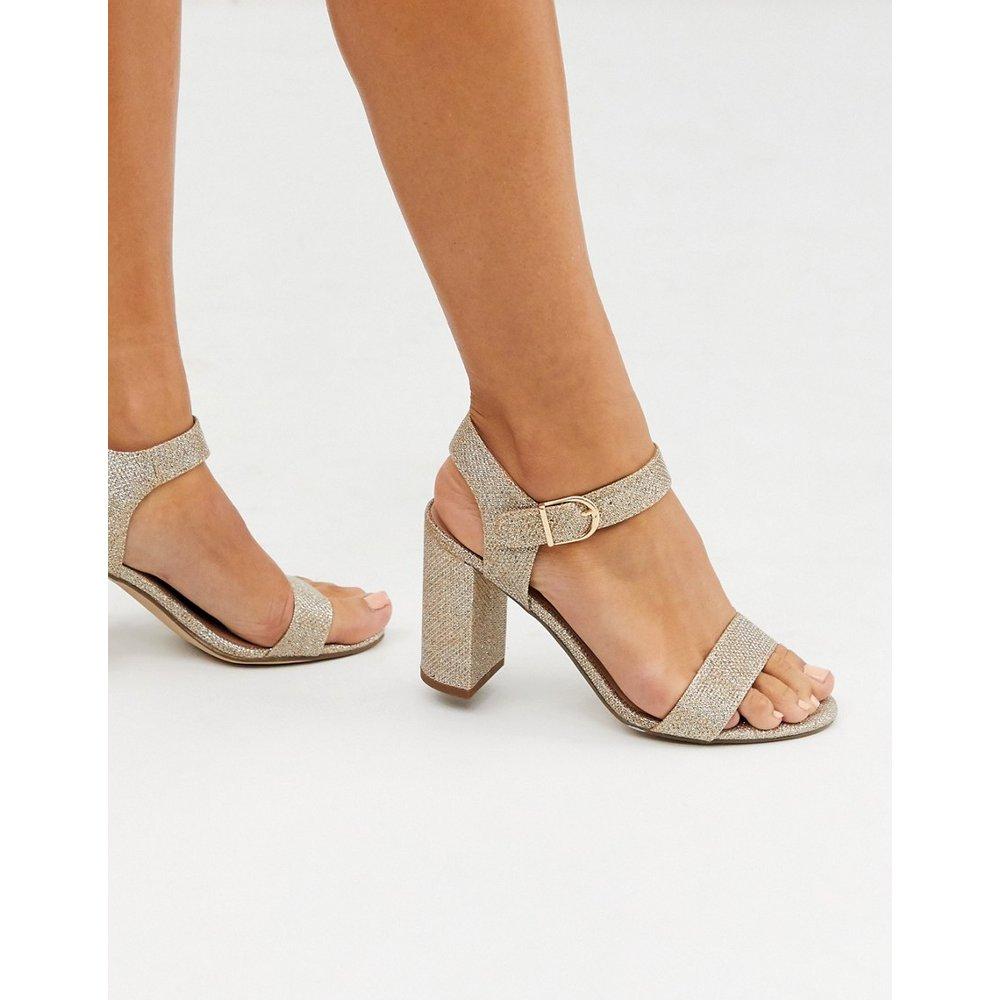 Sandales minimalistes à talons carrés - New Look - Modalova