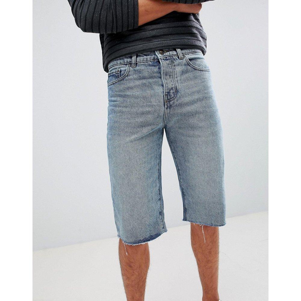 Short en jean à ourlets bruts - New Look - Modalova
