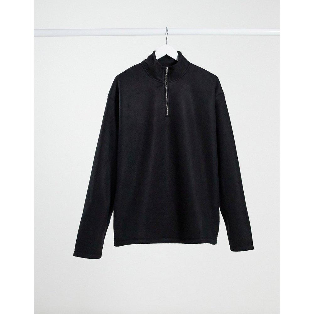 Sweat-shirt en polaire à col cheminée - New Look - Modalova