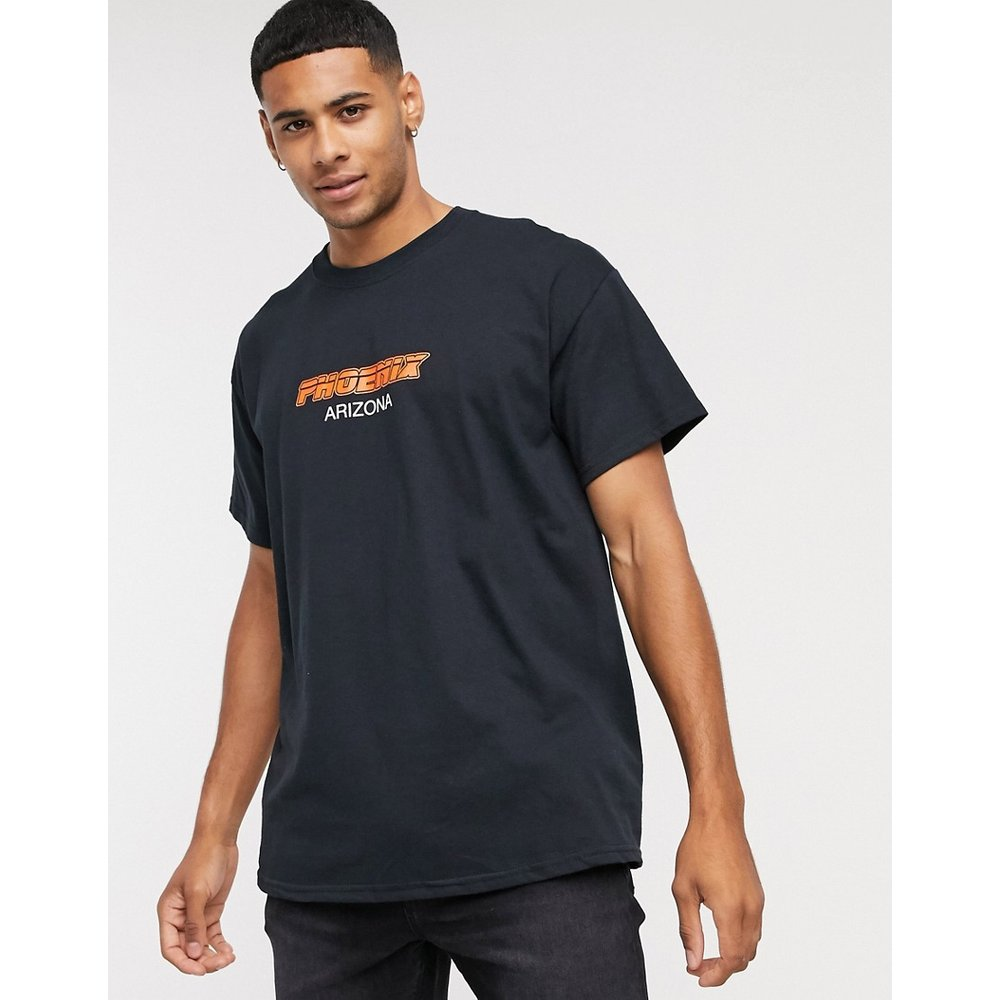  - T-shirt à imprimé ville - New Look - Modalova