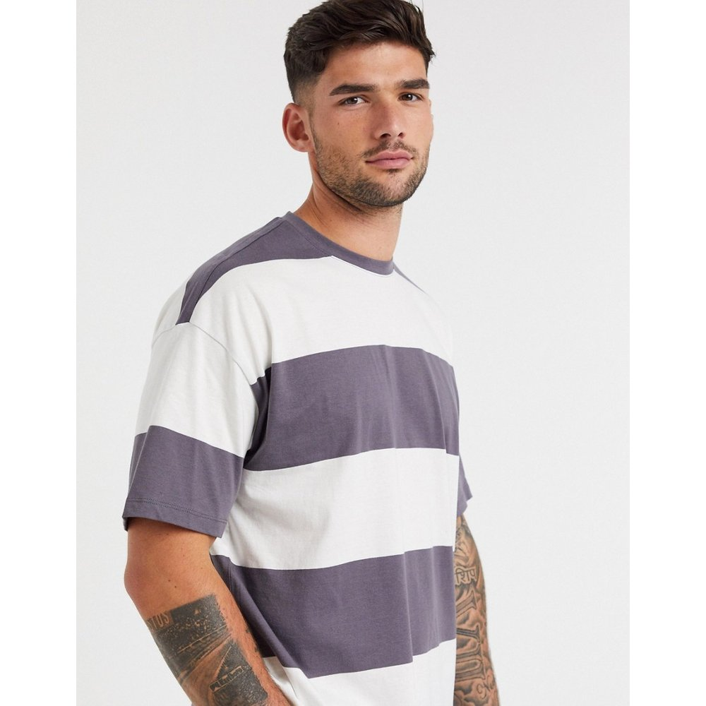 T-shirt à larges rayures - foncé - New Look - Modalova