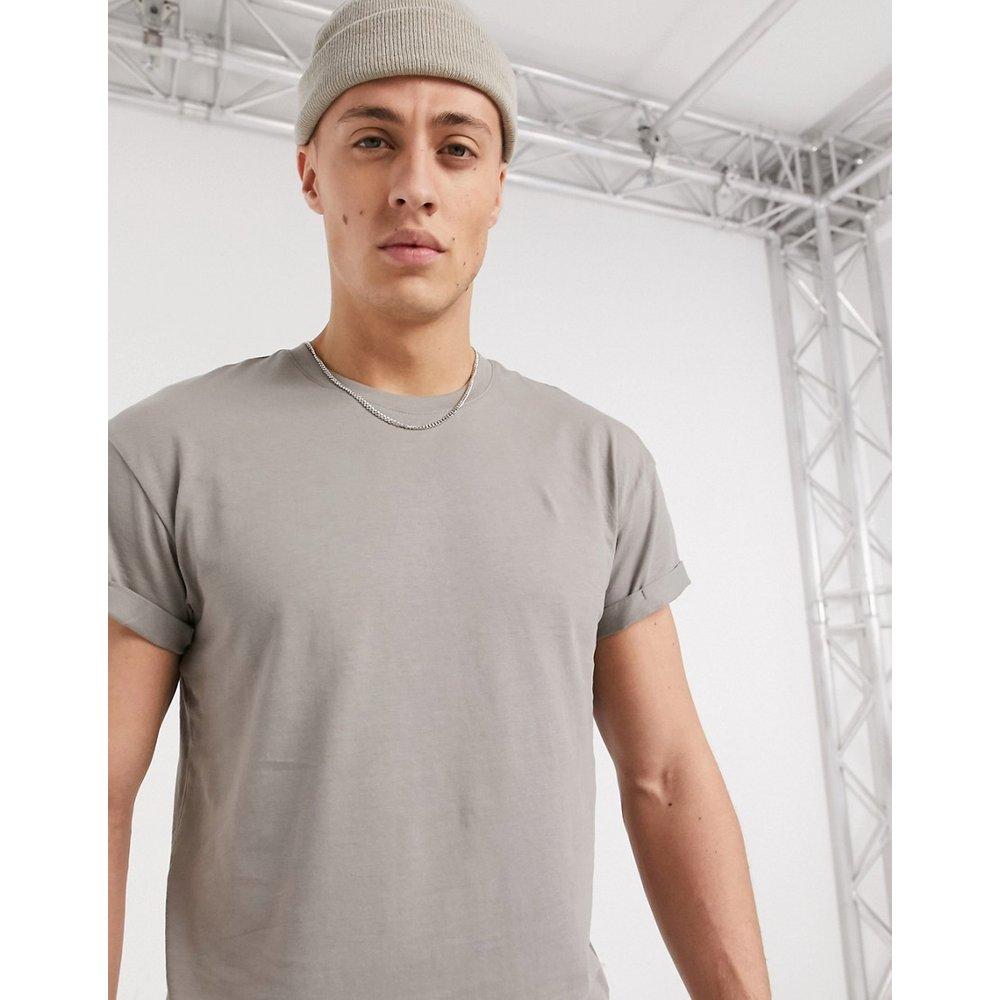 T-shirt à manches retroussées - clair - New Look - Modalova