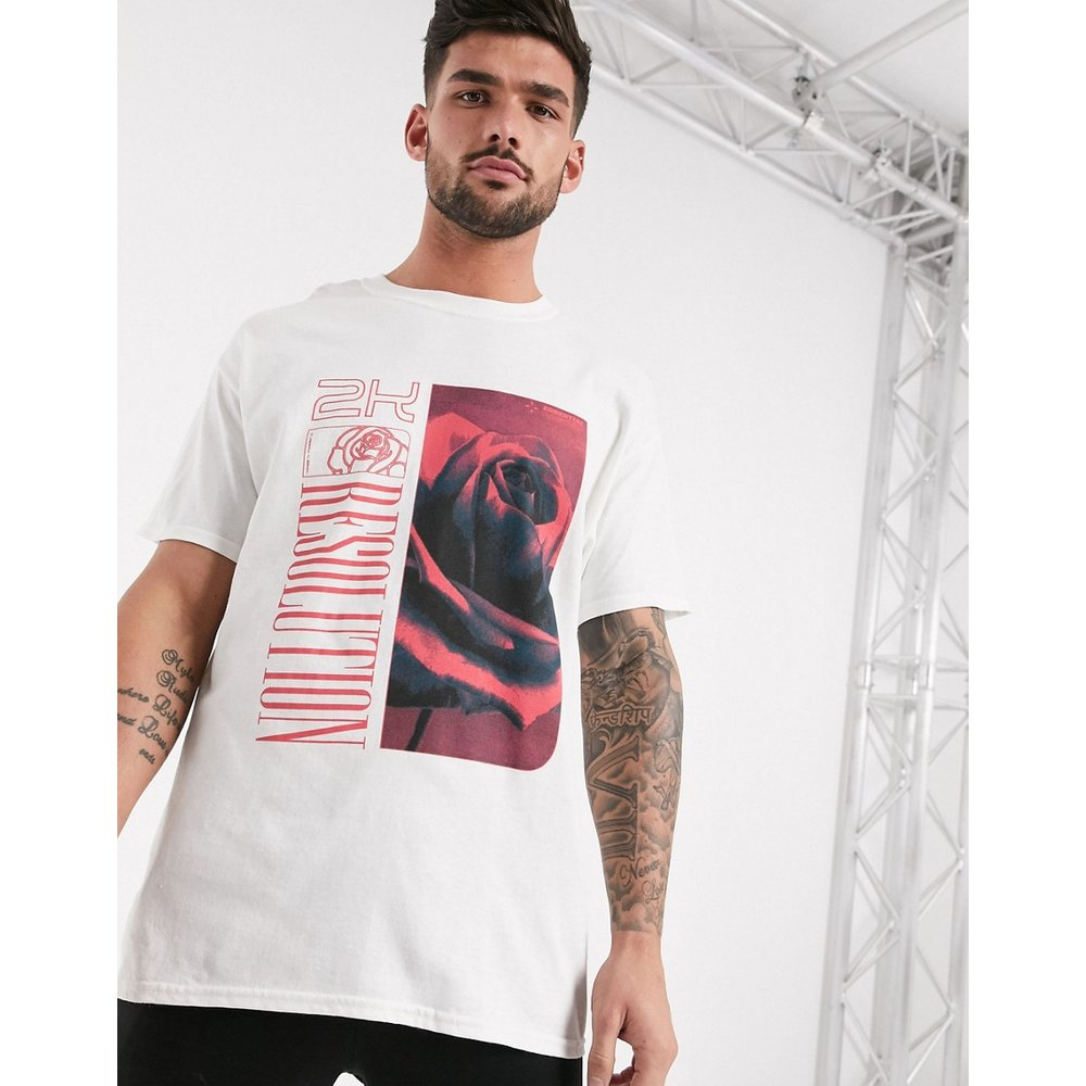 T-shirt avec imprimé rose - New Look - Modalova