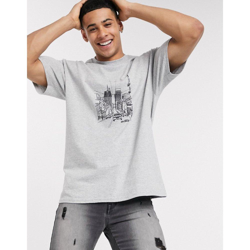 T-shirt oversize à imprimé esquisse - New Look - Modalova