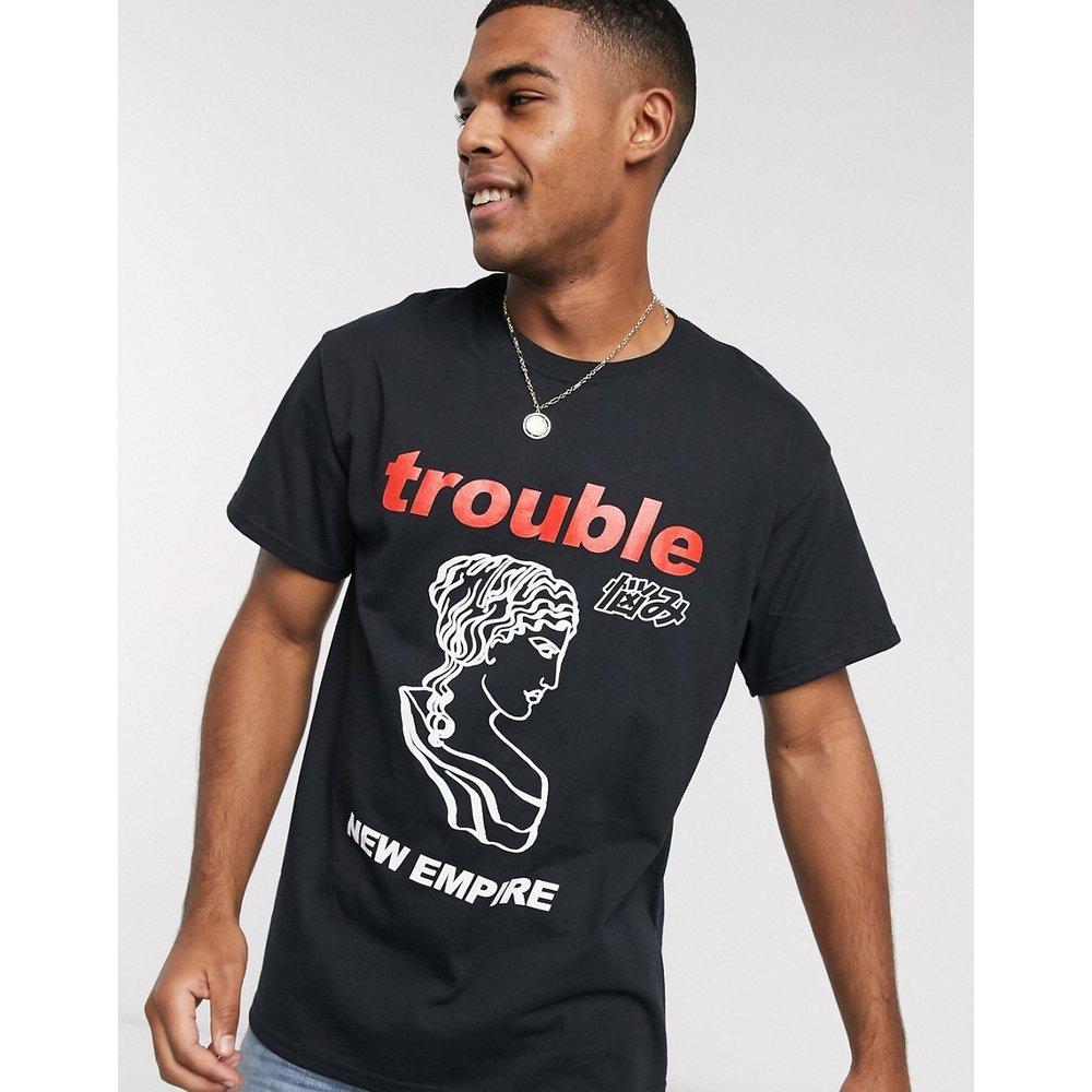 T-shirt oversize à imprimé « Trouble » - New Look - Modalova