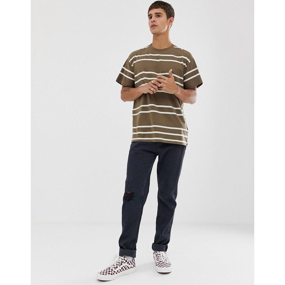 T-shirt oversize à rayures - Beige - New Look - Modalova