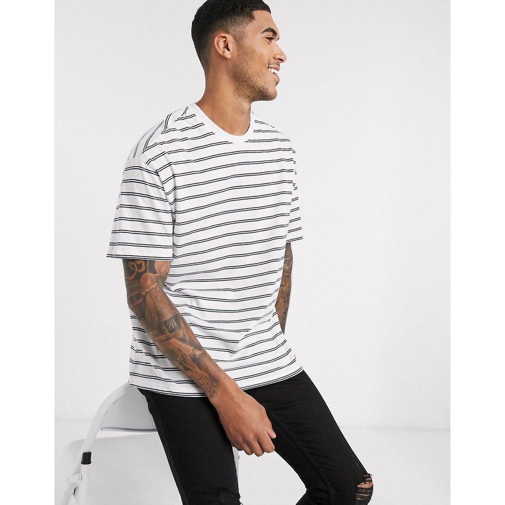T-shirt oversize rayé -Bleu marine et blanc - New Look - Modalova