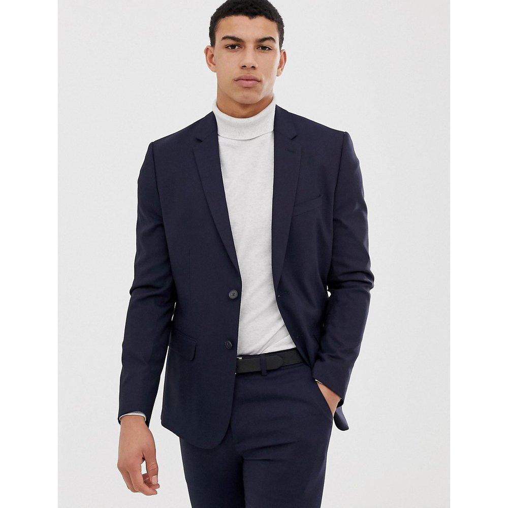 Veste de costume ajustée - Bleu marine - New Look - Modalova