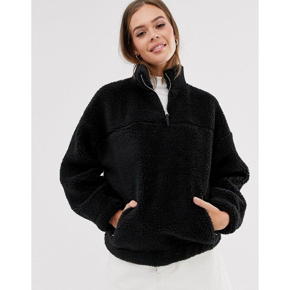 Veste en polaire imitation peau de mouton - New Look - Modalova