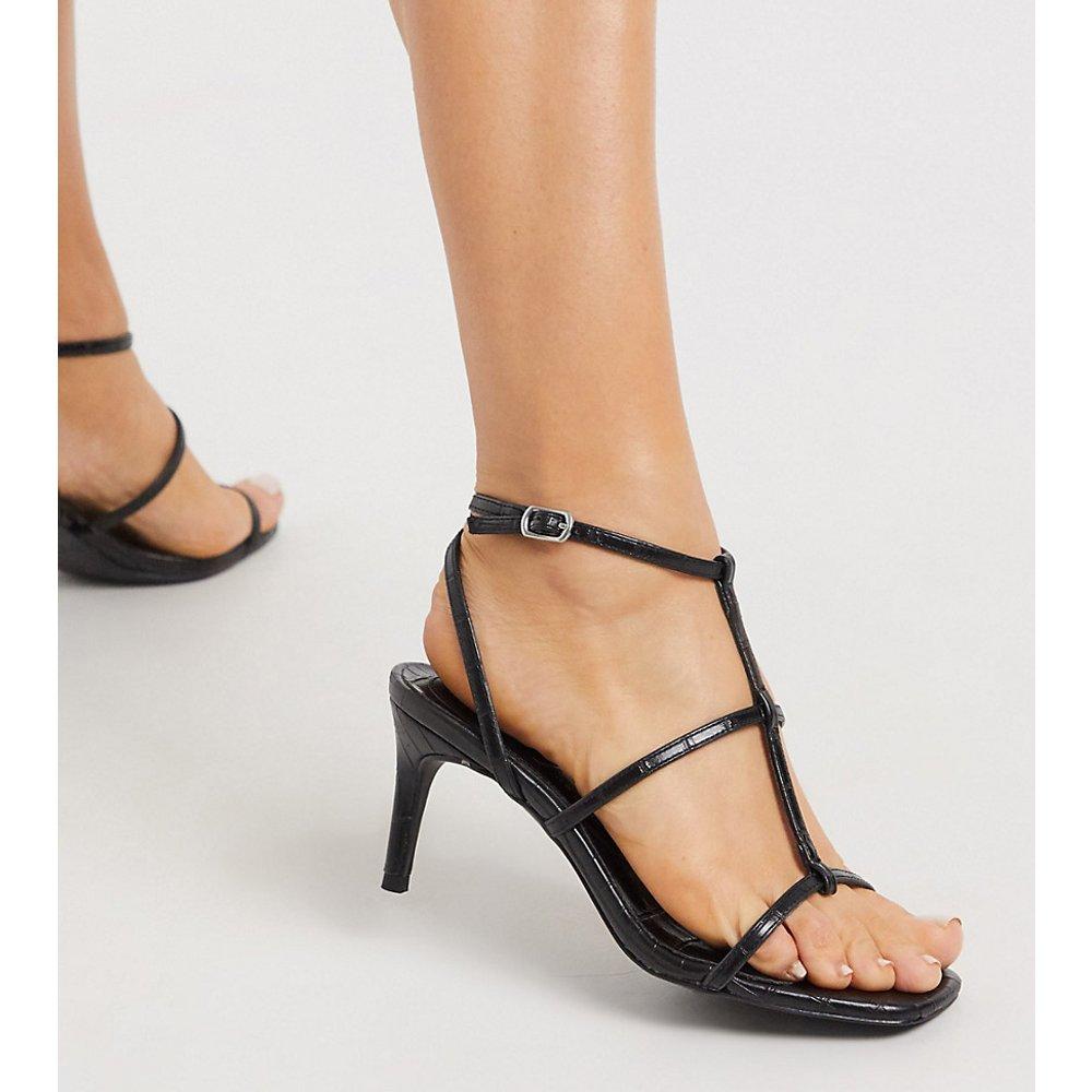 Sandales à talons aiguille et brides multiples - New Look Wide Fit - Modalova