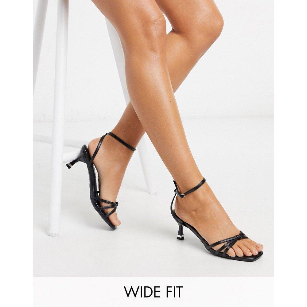 Wide Fit - Sandales fines à talons avec bride nouée - New Look - Modalova