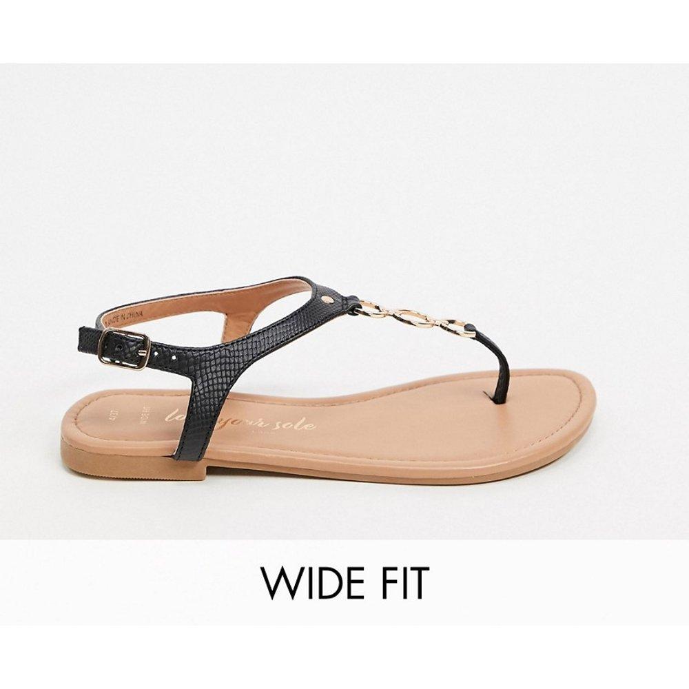Wide Fit - Sandales plates avec chaîne - New Look - Modalova
