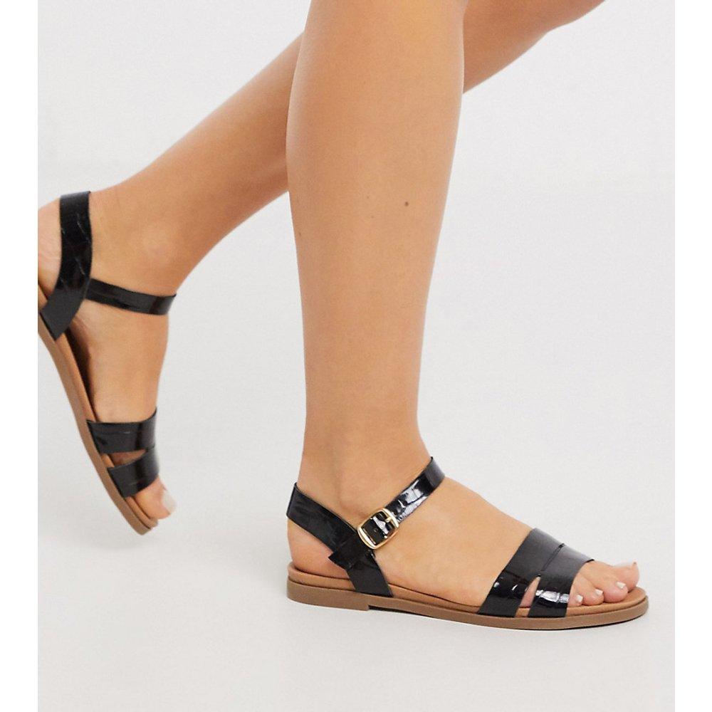 Sandales plates - Croco - New Look Wide Fit - Modalova