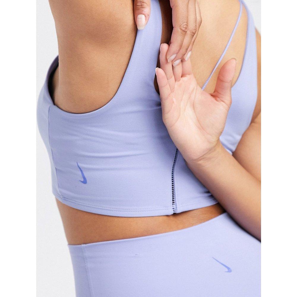 Nike - Crop top de yoga luxueux avec surpiqûres - Lilas - Nike Training - Modalova