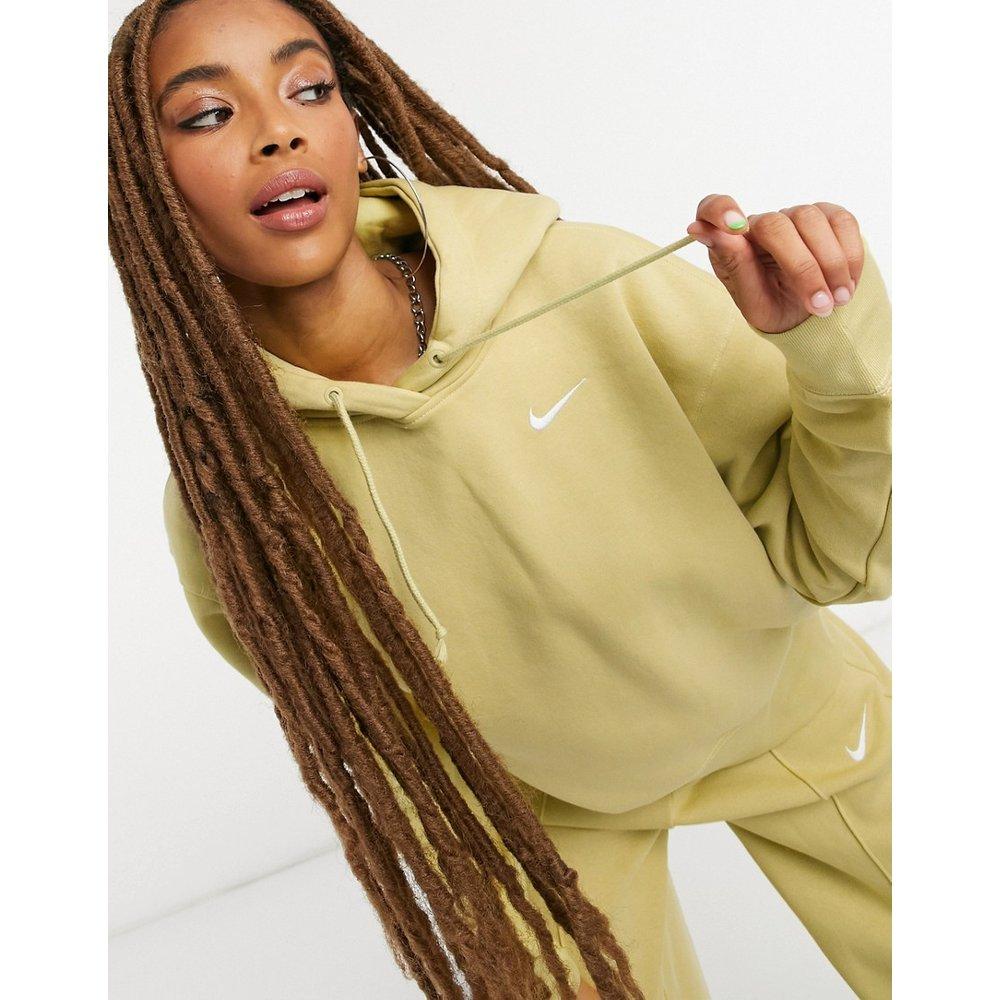Hoodie oversize avec petit logo virgule - olive - Nike - Modalova