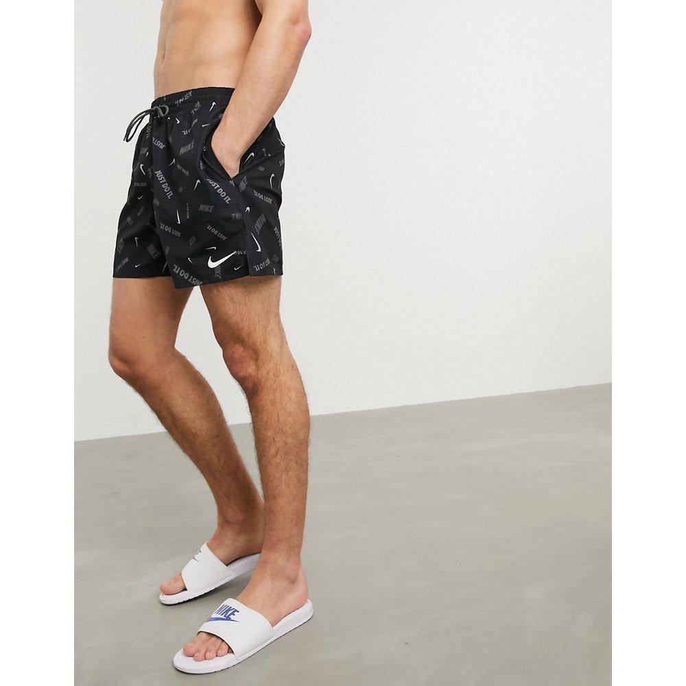 Short de bain style volley 5 pouces à motif logo virgule - Nike Swimming - Modalova