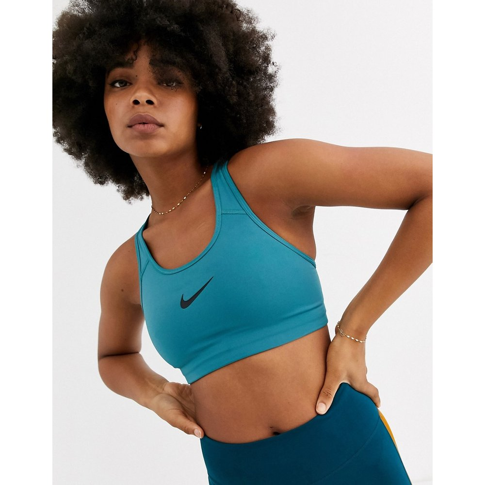 Soutien-gorge de sport maintien moyen avec logo virgule - sarcelle - Nike Training - Modalova