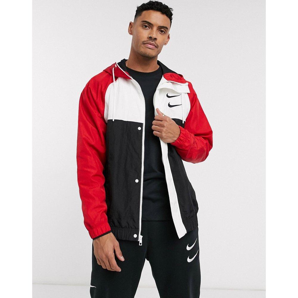 Veste à capuche tissée color block avec logo virgule et fermeture éclair - /rouge - Nike - Modalova