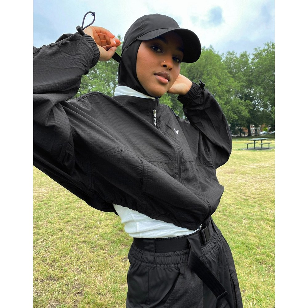 Veste zippée manches froncées avec logo de la marque - Nike - Modalova