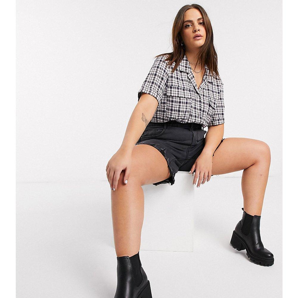 Chemise à carreaux coupe carrée - Noisy May Curve - Modalova