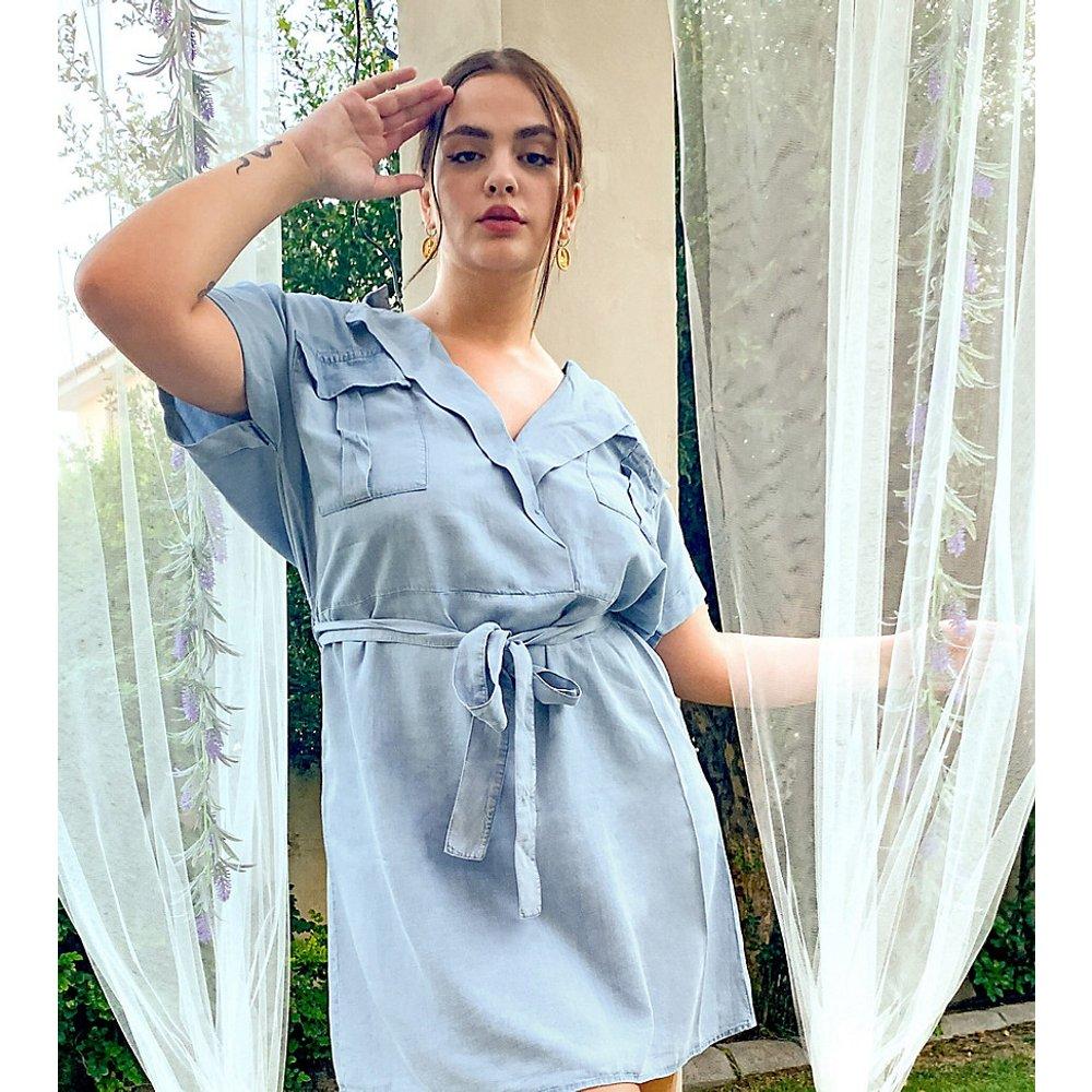 Robe chemise style fonctionnel en chambray - Noisy May Curve - Modalova