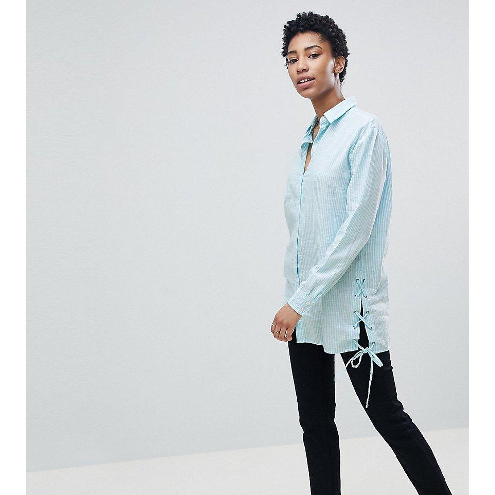 Chemise longue avec liens à nouer - Noisy May Tall - Modalova