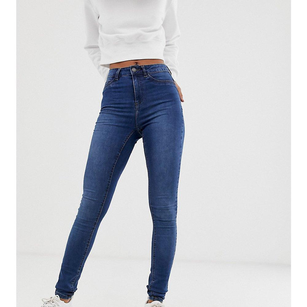 Jean skinny taille haute - Délavé bleu moyen - Noisy May Tall - Modalova