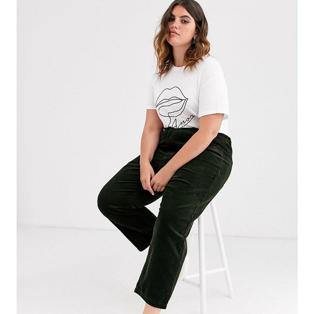 Pantalon large en velours côtelé - Only Curve - Modalova