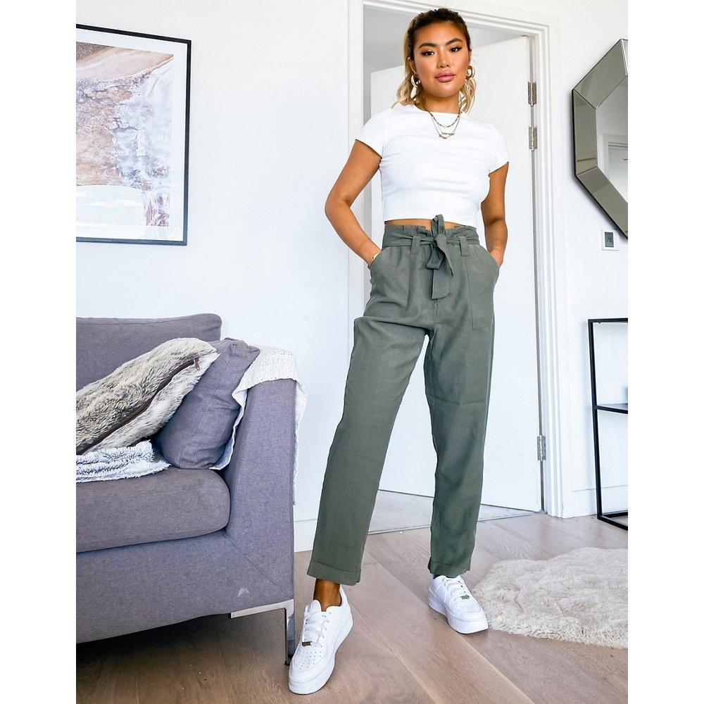 Only - Pantalon à ceinture - Vert - Only - Modalova