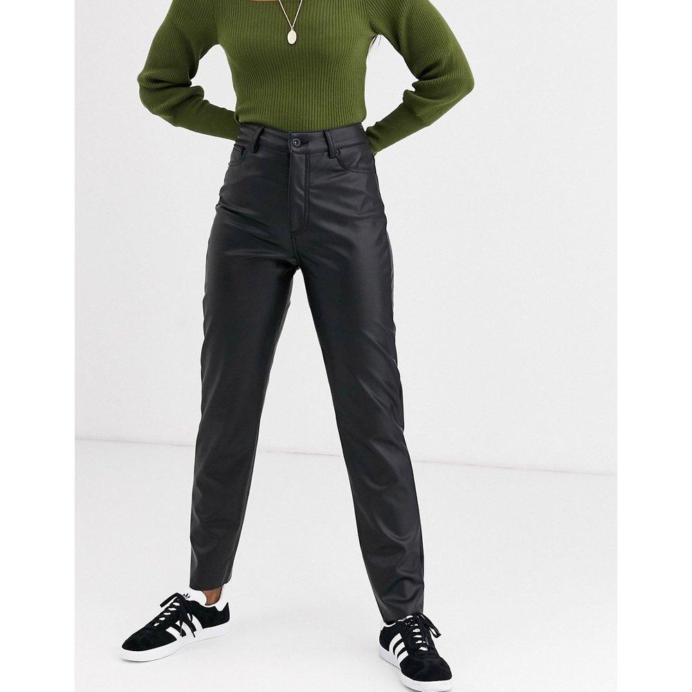 Pantalon droit en similicuir - Only - Modalova
